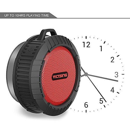 VicTsing IP65 Shower Bluetooth Speaker, 5 Watt Waterproof ...