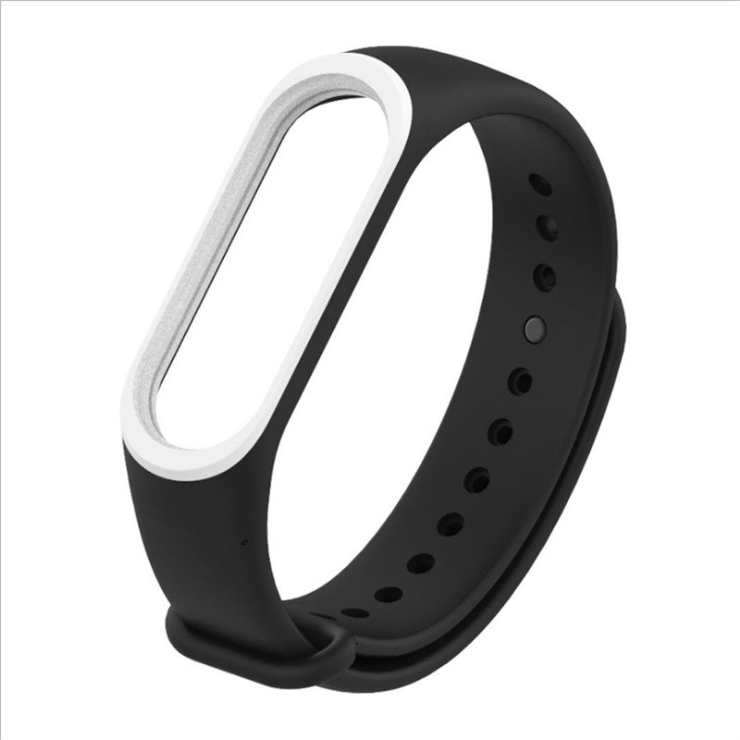 HighlifeS For Xiaomi Mi Band 3 Watch Band Replacement Pattern Strap wristband Bracelet Accessory (White)