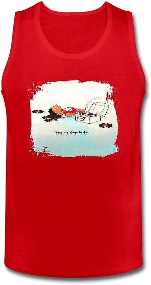 ol2yeb hombre Leave Me Alone a morir camiseta de tirantes 100% algodón: Amazon.es: Ropa y accesorios
