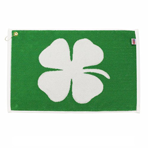 "Lucky Four Leaf Clover (Shamrock) Golf Towel by Player Supreme (16"" x 24"")"