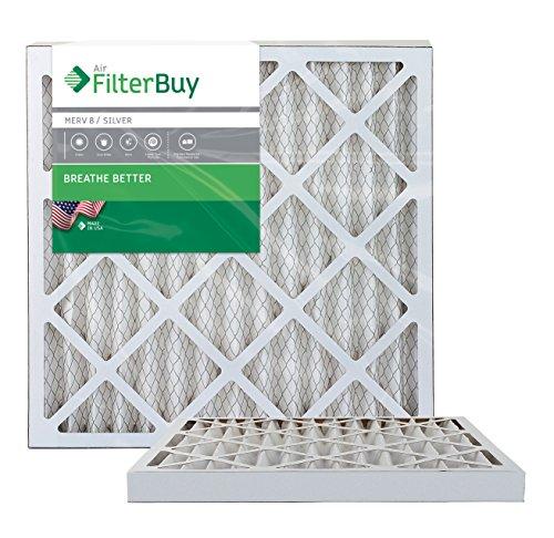AFB MERV 8 Pleated AC Furnace Air Filter, 20 x 20 x 2