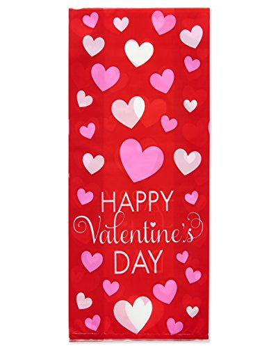 American Greetings 20 Count 458 Valentine's Day Party Treat Bags, Red -