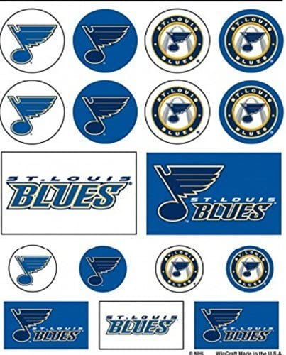 NHL St Louis Blues Vinyl Sticker Sheet 5 x 7 by WinCraft