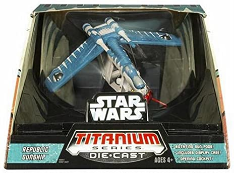 Amazon.com: Titanium Series Star Wars Ultra Republic Gunship: Toys & Games
