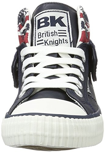 British Knights ROCO - Zapatilla Alta Unisex Adulto Blau (Navy/Union Jack)