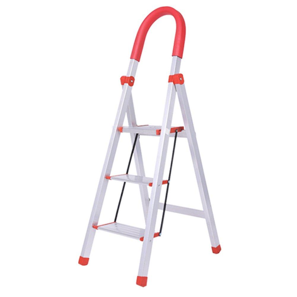 TH ステップスツールアルミ合金の家庭、はしごの厚さの倍エスカレーターの階段、屋内の人間のキャラクターの折り畳みのはしごポータブルはしごのスツール (サイズ さいず : 4 steps) B07F59Z2LD 4 steps4 steps