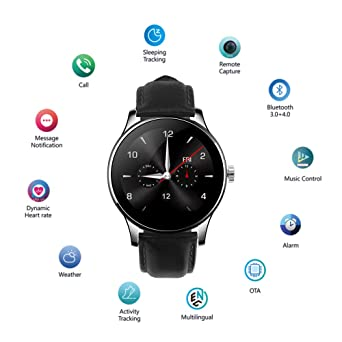 SMA-09 Smart Watch for Men Activity Tracker Heart Rate Monitor Fitness Tracker Smart Watches Compatible with Android and iPhone Fitness Watch ...