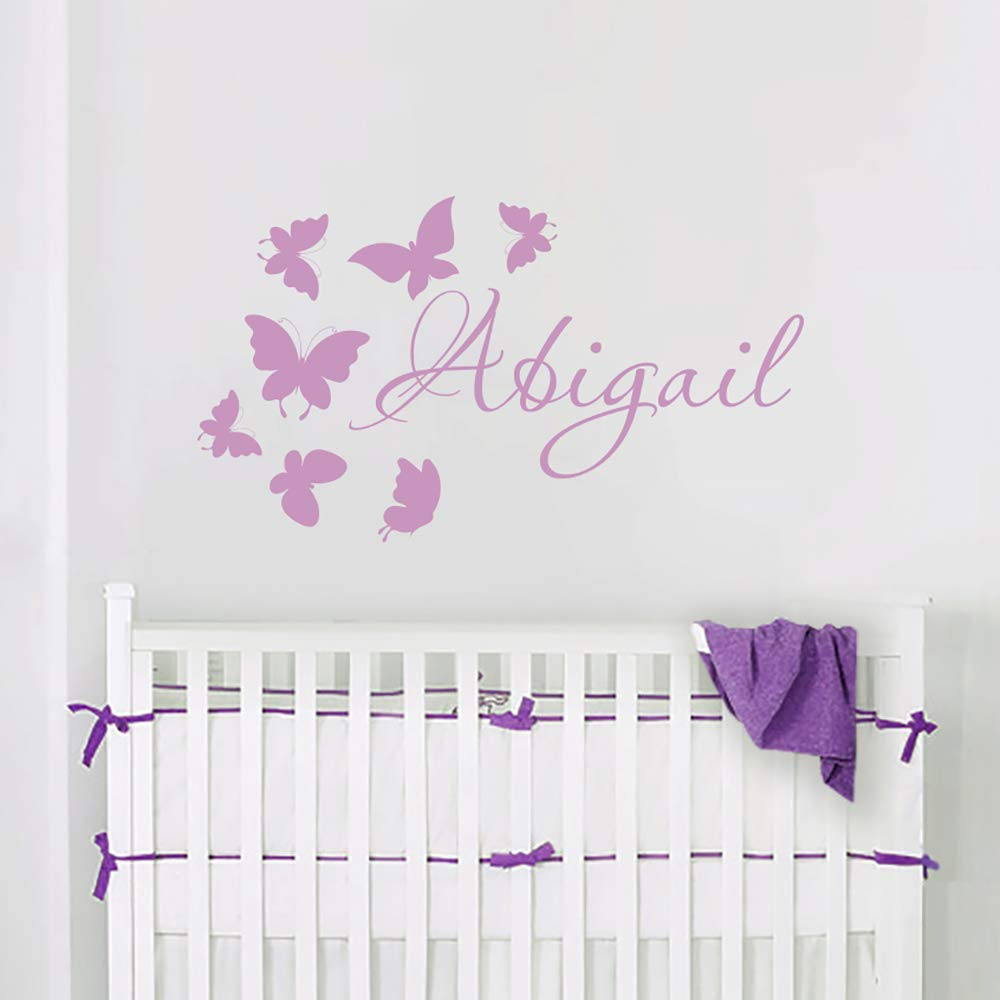 Any Custom Name with Fairy Hearts Stars Butterfly Wall Stickers Girls Room