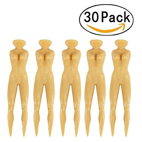"Golf Tees - JUOIKK 30 Pcs 3"" Nude Woman Plastic Golf Tees Holder,Sexy Lady Golf Tees Divot for Golf Sports Training"