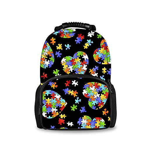 Traveler Handbag Quilted Purse (JACINTAN Colorful Autism Awareness School Backpack Book Bags Boys Girls)