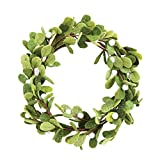 Creative Co-Op XM0923 Whimsy 18'' Round Felt Mistletoe Wreath