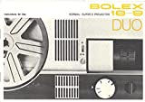 Bolex 18-9 Duo Normal/Super 8 Movie Projector Original Instruction Manual