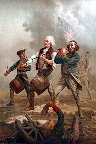 Spirit of 76 Yankee Doodle by Arcibald Willard Art Print Pos
