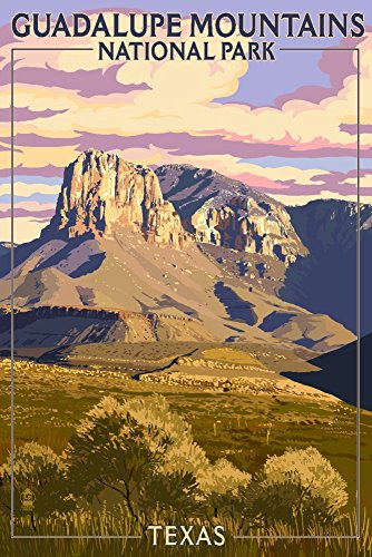 Guadalupe Mountains National Park, Texas Giclee Gallery Print, Wall Decor Travel Poster