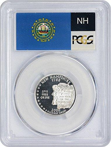 2000 S New Hampshire State Silver Quarter PR70DCAM PCGS