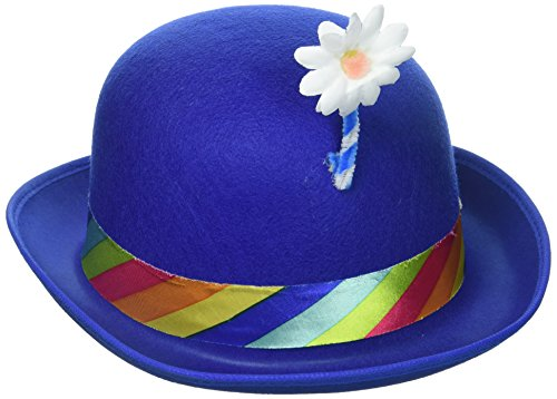 (Forum Novelties Clown Blue Derby with Flower)