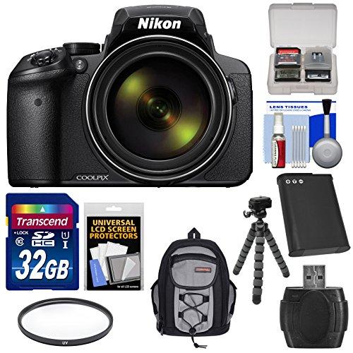Nikon Coolpix P900 Wi-Fi 83x Zoom Digital Camera with 32GB