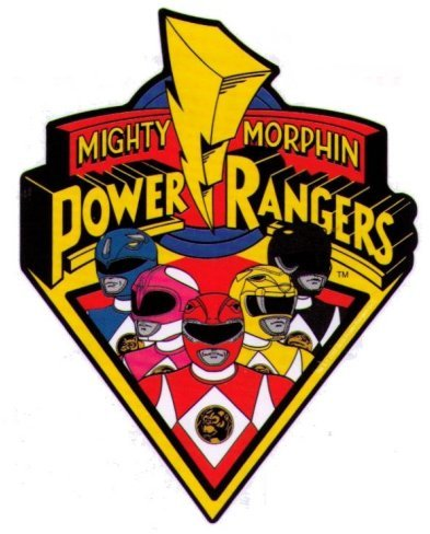 Mighty Morphin Power Rangers Logo y Personajes Sticker Toy Zany