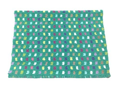 lorful Square Throw Rug 23 by 35 Cotton Mat Absorbent ()