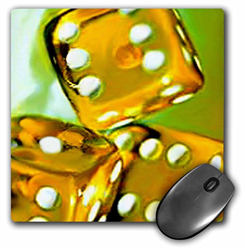 3dRose LLC 8 x 8 x 0.25 Inches Mouse Pad, Dice (Mouse Dice)