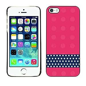 Cubierta de la caja de protección la piel dura para el Apple iPhone 5 / 5S - dot pink black white pattern