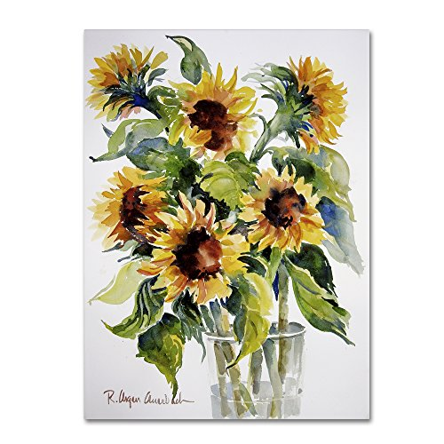 Trademark Fine Art Sunflowers Artwork by Rita Auerbach, 35 x 47 Canvas Wall Art