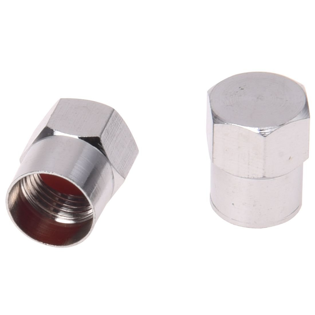 SODIAL(R) 5 Quality Chrome Valve Dust Caps Car / Bike Tube - Tyre 042473