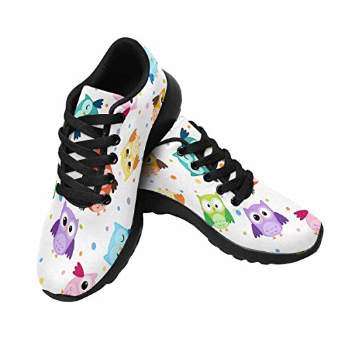 Interestprint Hibou Oiseaux Jogging Running Baskets Léger Aller Facile Chaussures De Marche Multi 1