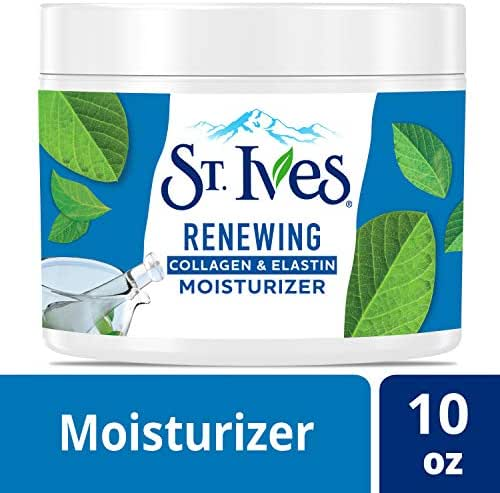 St. Ives Facial Moisturizer for Dry Skin, Collagen Elastin, 10 Oz