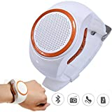 TopePop Wireless Bluetooth Speaker Watch Portable Mini Sport Outdoor Wearable Speaker With Mic Support Handsfree TF Crad MP3 Player FM Radio Selfie Anti-lost White
