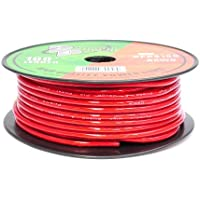 Pyramid RPR8100 8 Gauge Power Wire 100 feet OFC (Clear Red)