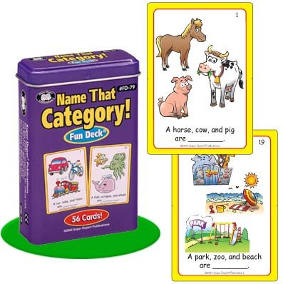 Name That Category! Fun Deck Cards - Super Duper Educational Learning Toy for Kids