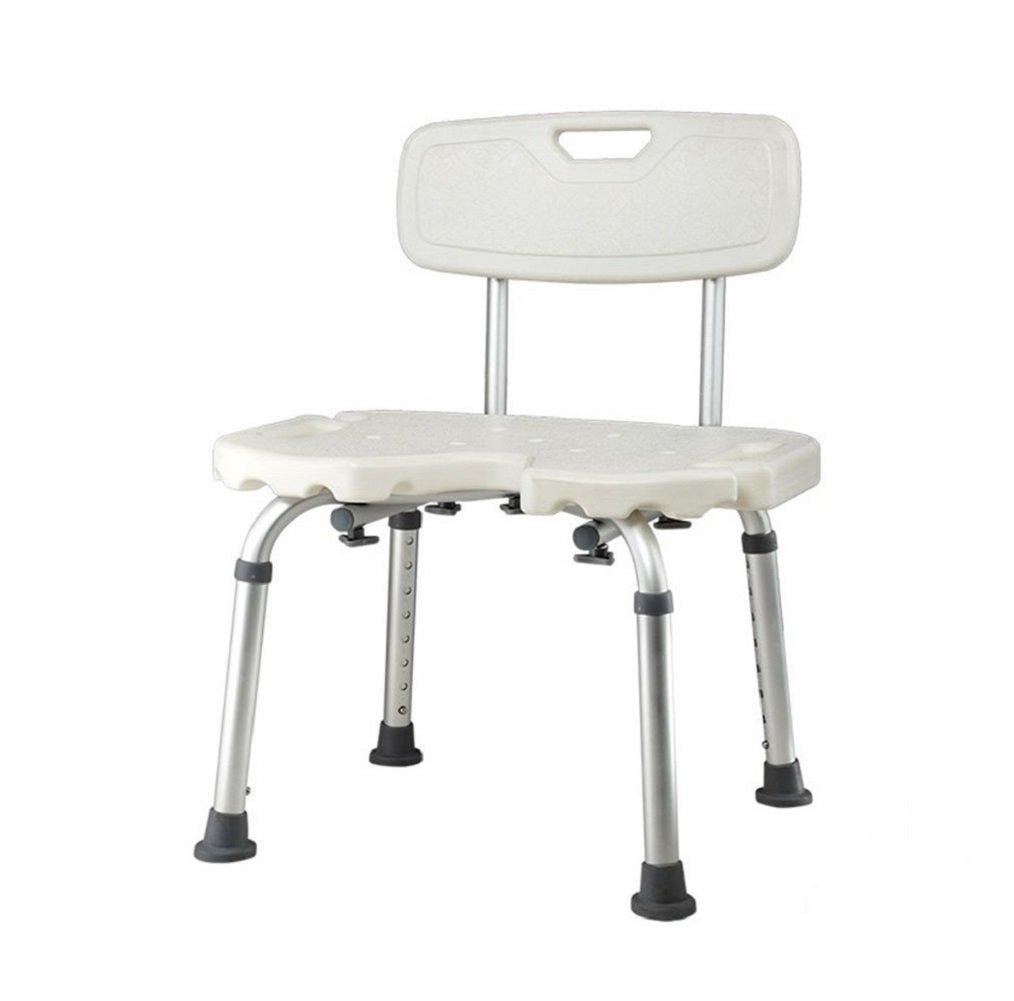 ノンスリップシャワーチェア高さ調節可能リムーバブル妊婦浴室椅子バスルームアルミ合金シャワー椅子快適で安定した便利な B07CNP1JC1