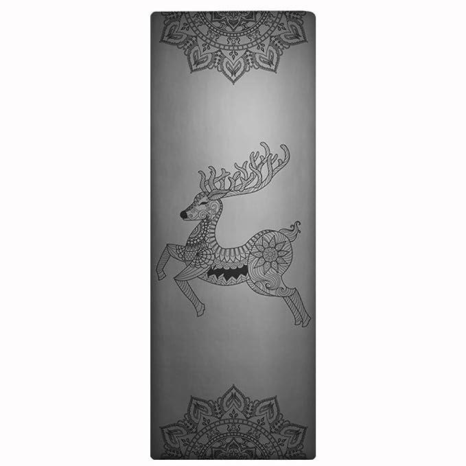Amazon.com : YXGYJD Pilates Mat, Yoga Mat Rubber Laser Engraved Yoga Mat, Non-Slip Stripes, Non-Slip, Wear-Resistant, Specifications: 183 X 68 cm Thickness: ...