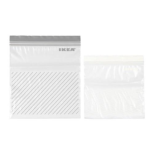 50 IKEA resealable bags (ISTAD) - purple - ziplock - food freezer sandwich bags - 25 x 1.2L + 25 x 2.5L