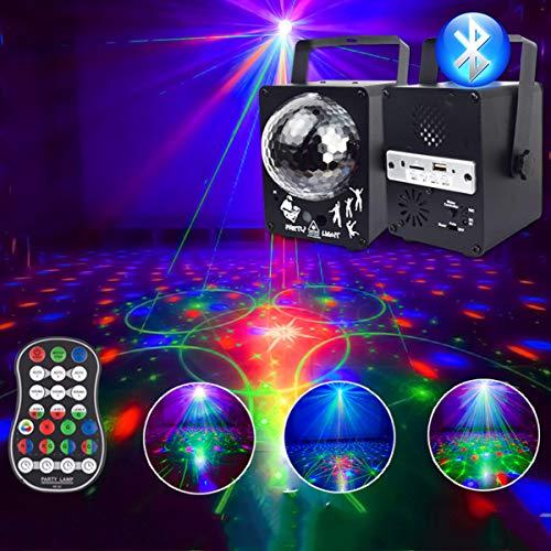 LED Bluetooth Kristal Podiumlicht Disco Laserlicht 60 Patronen DJ Magische Bal Laserfeest Vakantie Kerst Karaoke DISCO…