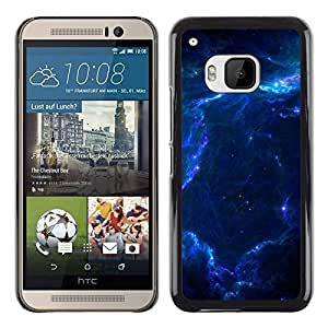 Design for Girls Plastic Cover Case FOR HTC One M9 Blue Glas Cloud Galaxy Stars Planets Universe OBBA