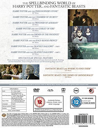 Wizarding World: [10 Film Collection] [Harry Potter/Fantastic Beasts] [DVD] [2001] [2020]