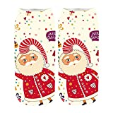 LiPing Women's 3D Cartoon Funny Christmas Crazy Cute Amazing Novelty Print Ankle Socks (F)