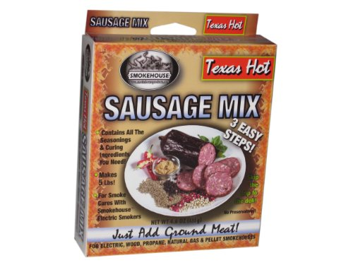 Smokehouse Products Texas Hot Sausage Seasoning Mix (Smokehouse Products Jerky)