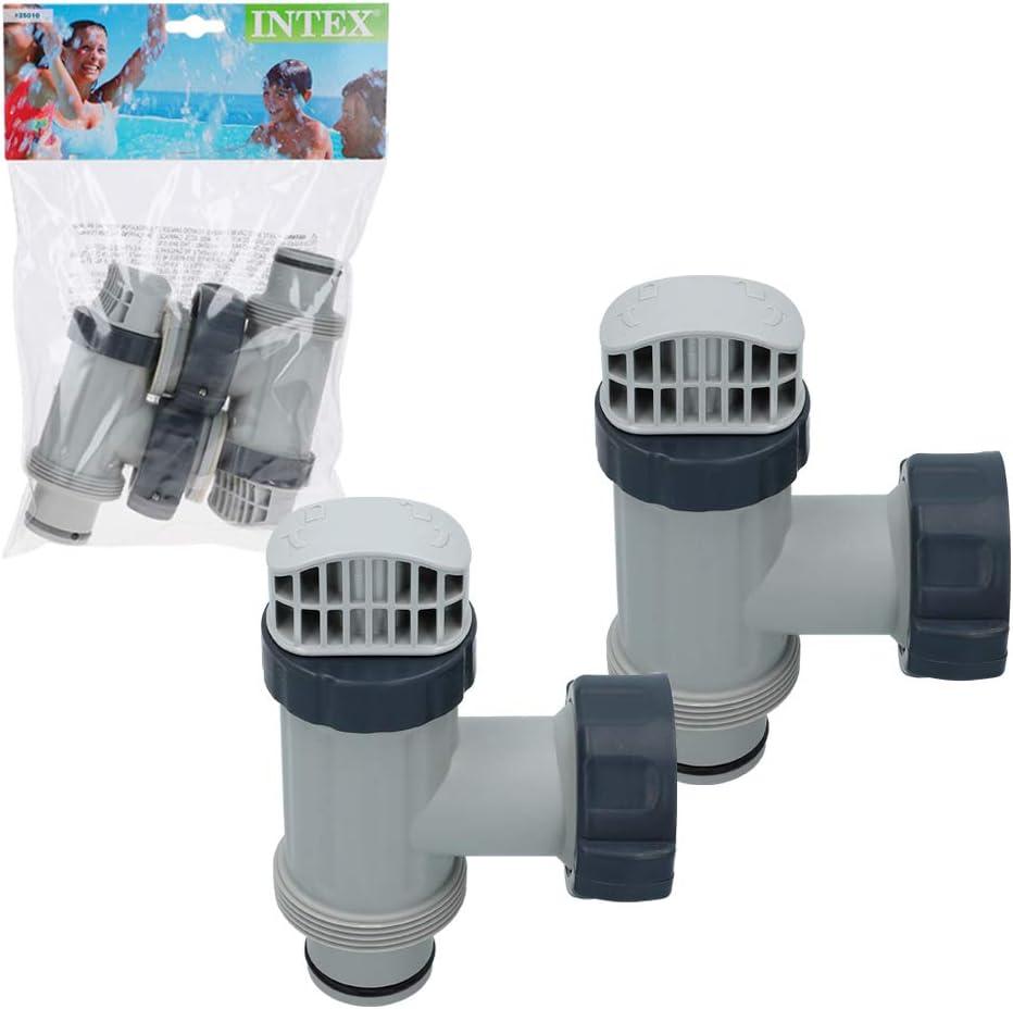 Intex Pack 2 Conjuntos de válvulas de Vaciado 38 mm: Amazon.es: Jardín