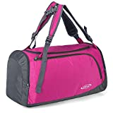 G4Free 35L Lightweight Sports Gym Bag Travel Duffle Backpack Weekend Bag with Shoes Compartment (Rose)