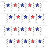 Patriotic Stars & Whirls Garland