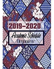 """2019-2020 Academic Schedule Organizer: Productivity Weekly, Monthly Planner Diary, At A Glance Calendar Organiser With Inspirational Quotes, Daily Journal Notebook, Great For School, University, Office, Home, Men, Women, Boys, Girls 7""""x10"""", Soft Paperback"""