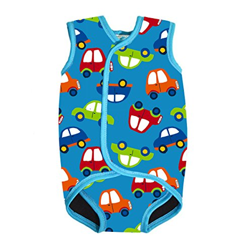 - MyTeng Baby/Toddler Wetsuit Vest with UPF50 Design for Boys/Girls 0-3 Years (FBA) (Medium (6-18 Months), Car)