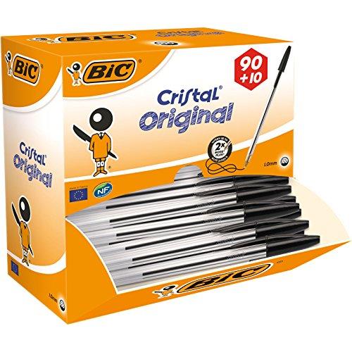 BiC Cristal Original 1.0 mm Ball Pen Pack of 90 + 10 Free