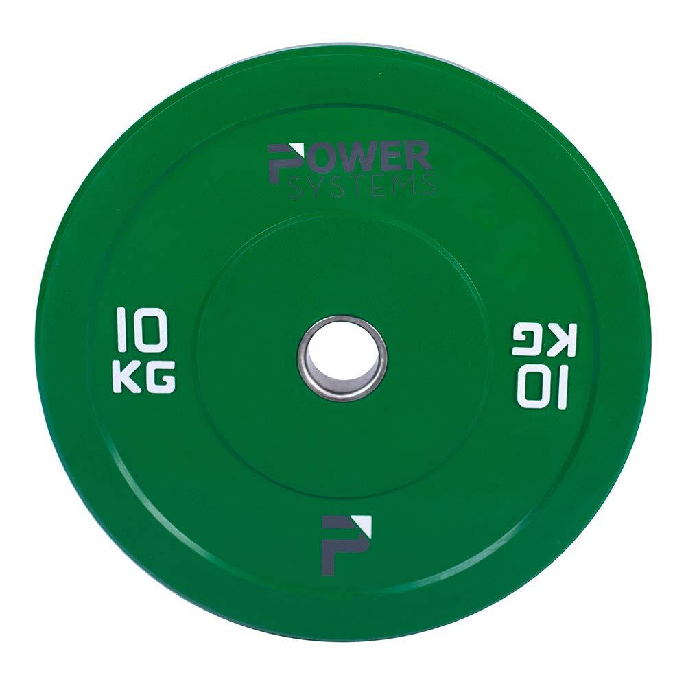 Inc. 25 Kilograms Red Grey 5 Kilograms 55894 Power Systems Olympic Bumper Plate 55898
