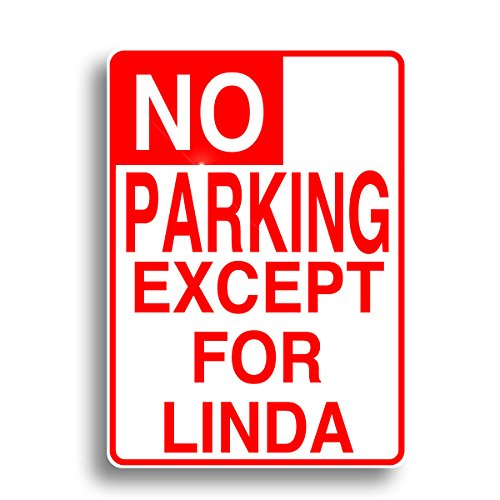Signs Parking No Personalized (No Parking Sign, Personalized with your name on solid aluminum!)