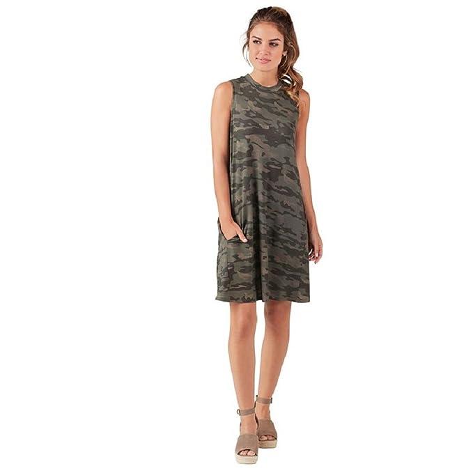 Review Mud Pie Alissa Rayon Spandex Swing Dress In Camo Womens Apparel