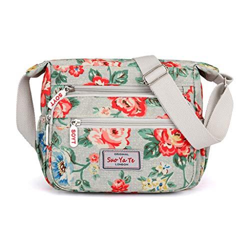 (Women Shoulder Bag Handbags Top-handle Totes Flower Print Crossbody Messenger Bags KLGDA)